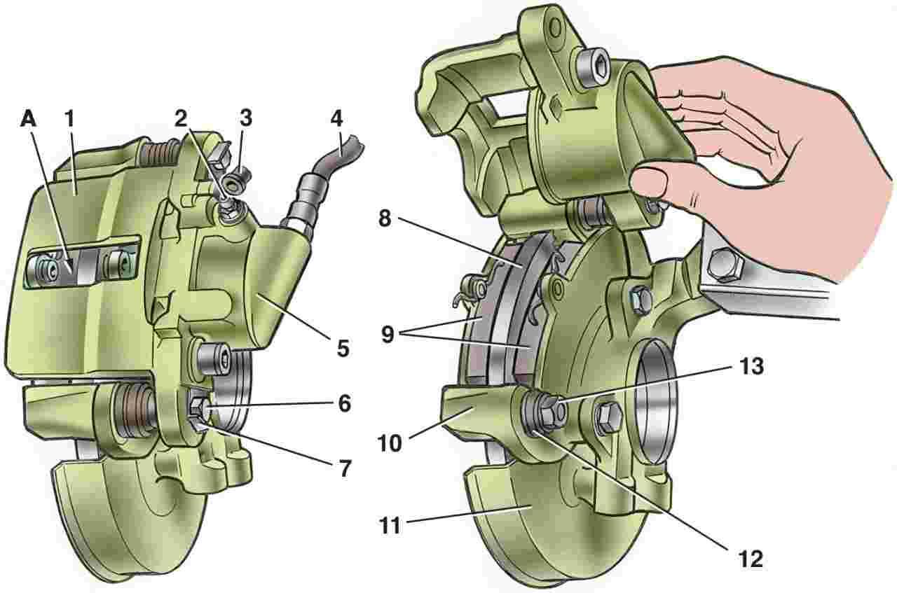 Как поменять тормозные колодки на ваз 2110