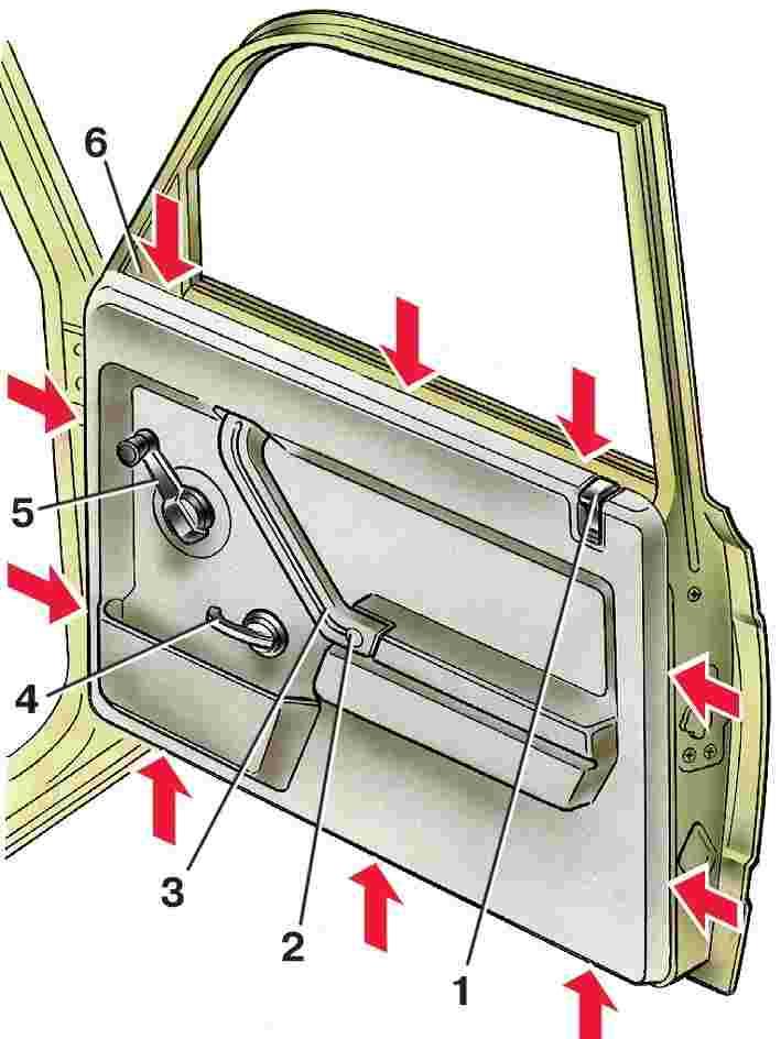 Как сделать низ дверей ваз