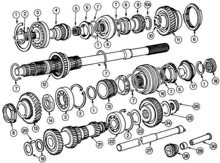 Схема сборки 5-и ступенчатой кпп ваз 2107
