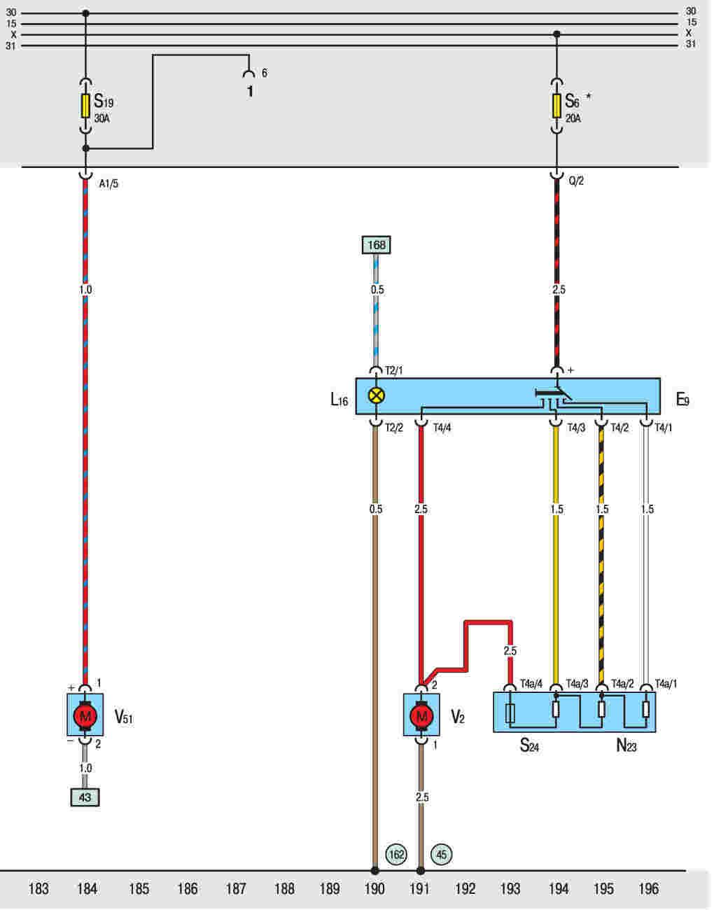 Схема включения вентилятора охлаждения bmw