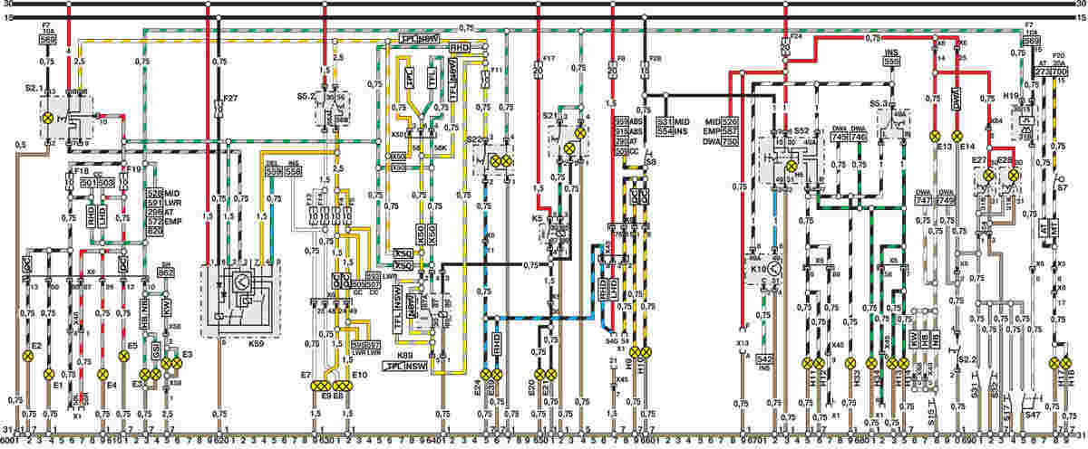 Схема генератора astra h