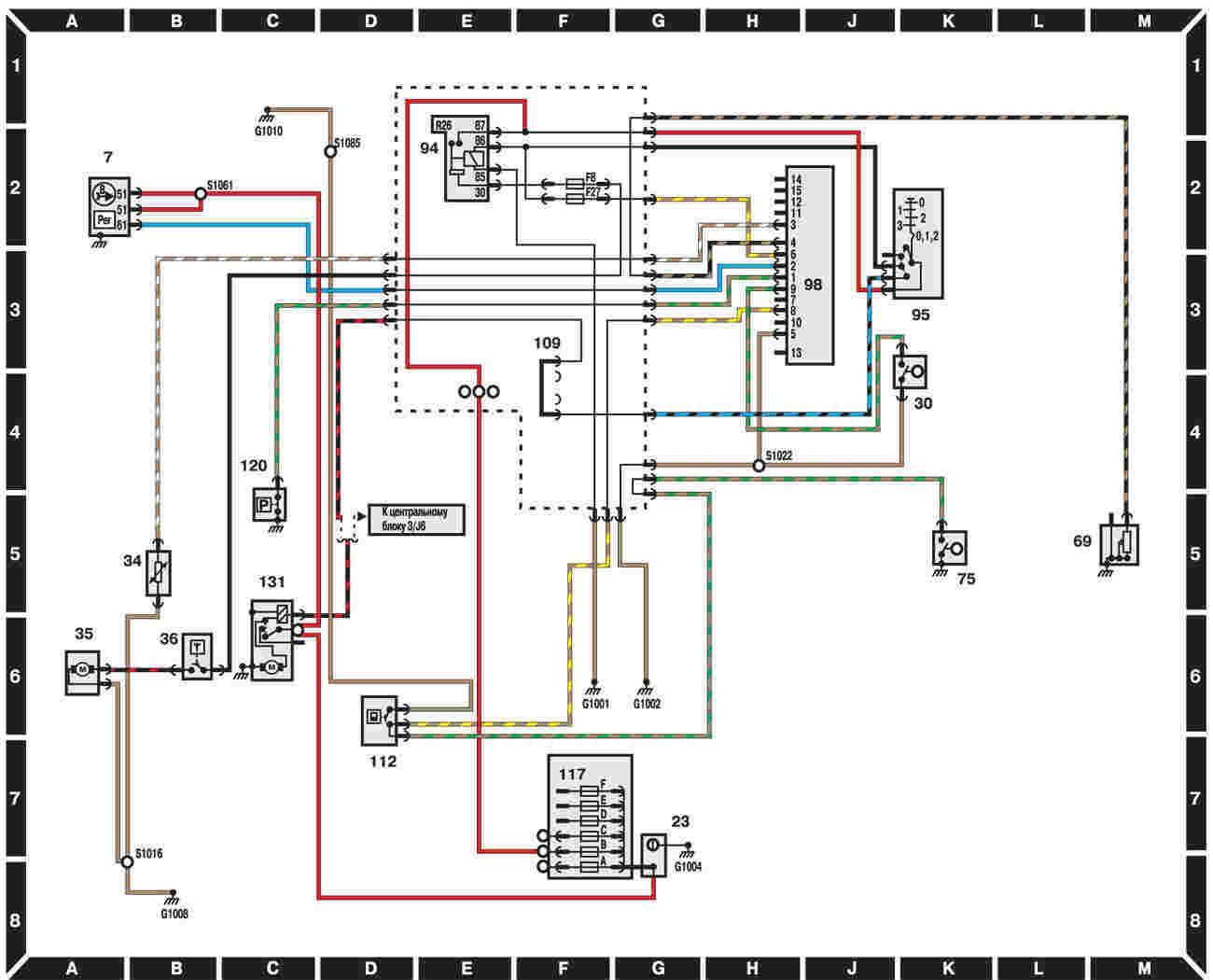 Форд скорпио электрооборудование схема