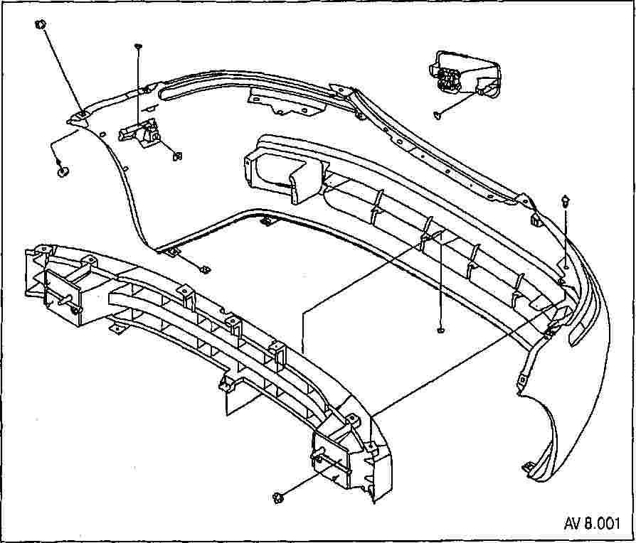 Как снять передний бампер на шевроле авео