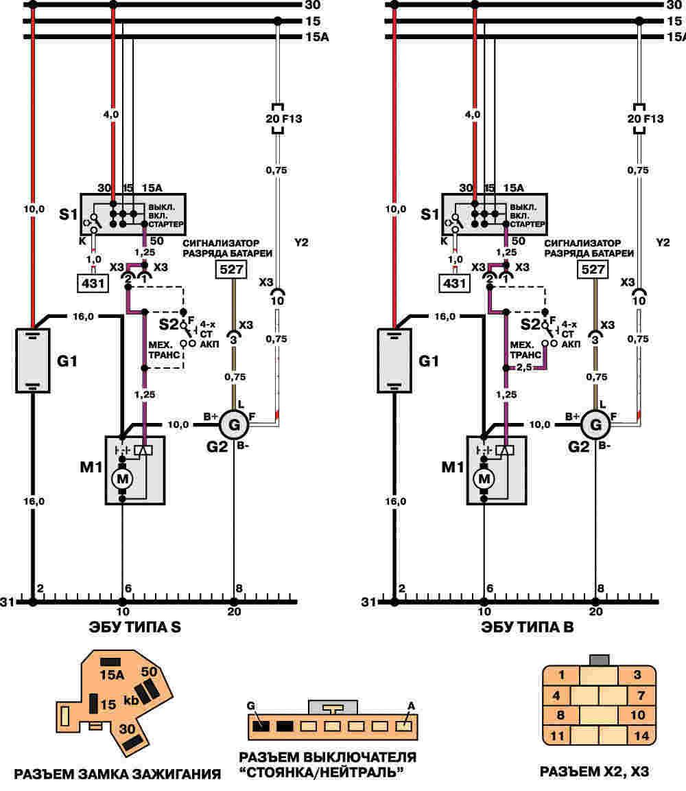 Фото схема генератора на нексию