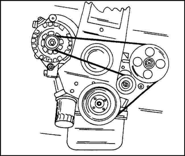 Механизм натяжения ремня генератора опель омега