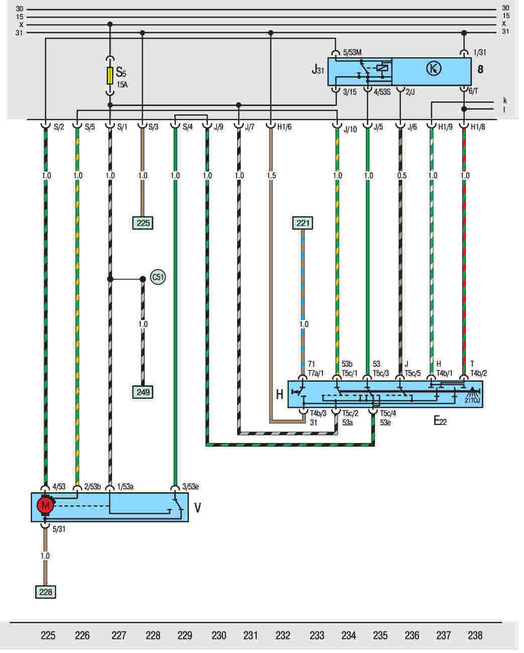 Схема предохранителей на фольксваген кадди