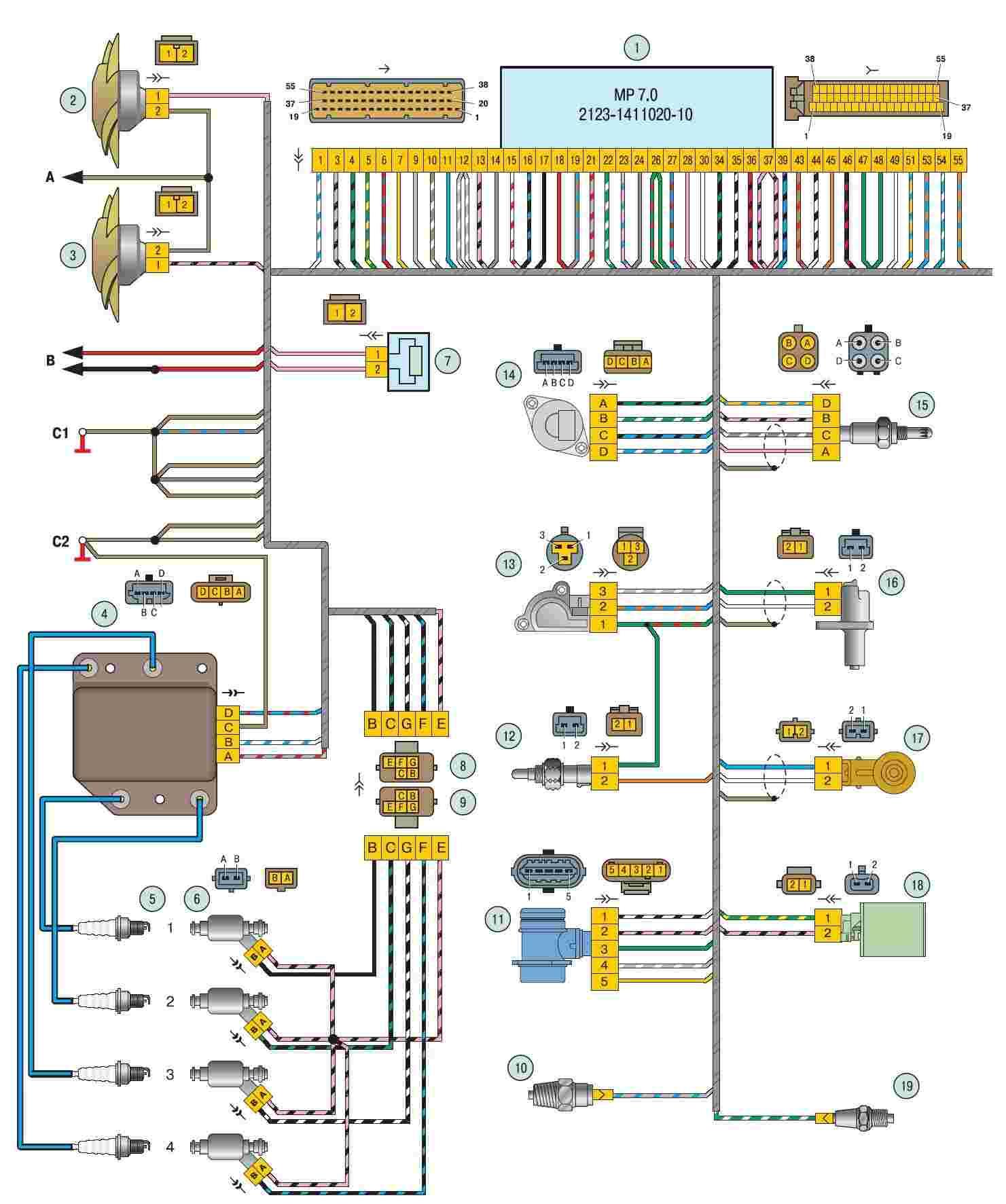 схема электропроводки шевроле спарк